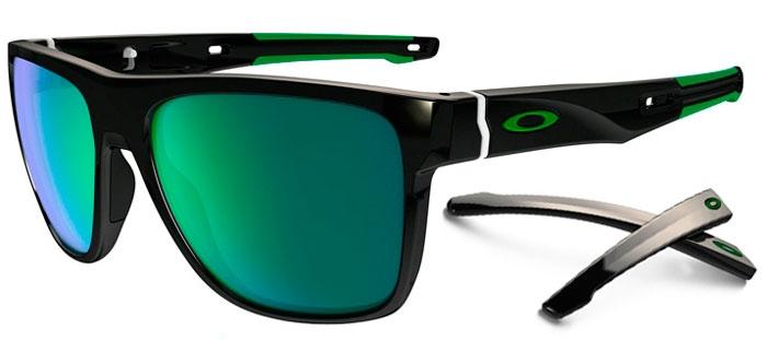 POLISHED BLACK    JADE IRIDIUM. Gafas de Sol - Oakley - CROSSRANGE XL  OO9360 - 9360-02 POLISHED BLACK   06408b266a37