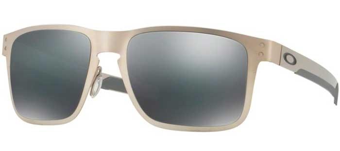 84a1b4182bafc Sunglasses Oakley OAKLEY HOLBROOK METAL 412303 SATIN CHROME    BLACK ...