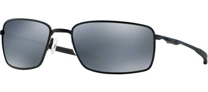 Oakley Polarized Lunettes Black Matte Oo4075 4075 Square Iridium Soleil 05 De Wire ALj4R5