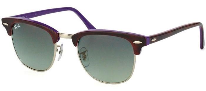 Rb3016 Violet Grey Havana 112871 Clubmaster Sol De Gradient Ray Ban® Gafas Ybf6gyv7