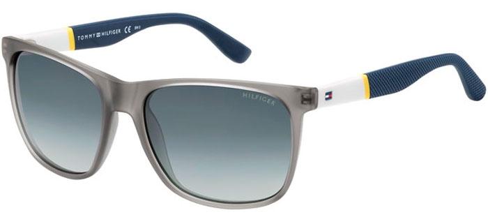 belleza hombre nueva llegada Gafas de Sol - Tommy Hilfiger - TH 1281/S - FME (HD) GREY WHITE YELLOW BLUE  // GREY GRADIENT