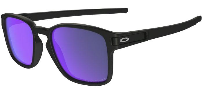 Oakley Latch Squared >> Sunglasses Oakley Latch Squared Oo9353 935304 Matte Black Violet