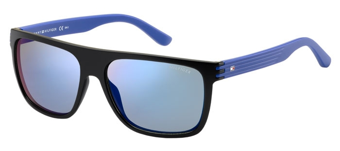 Sunglasses Tommy Hilfiger TH 1277 S FB1 (23) BLACK BLUE    BLUE MIRROR b905364c7c2