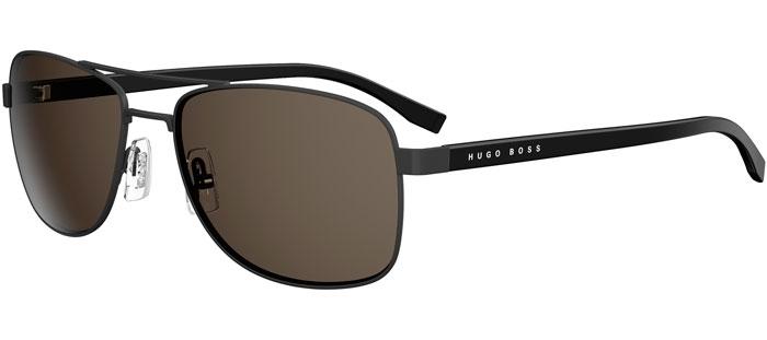 c2803ff140 BOSS 0762/S - 10G (NR) MATTE BLACK BLACK // BROWN GREY. Gafas de Sol - BOSS  Hugo ...