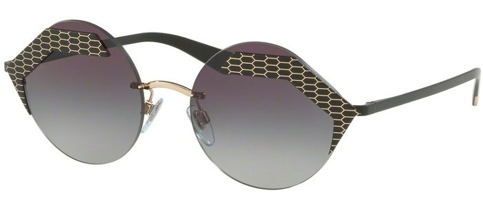 64dee6da3f Sunglasses - Bvlgari - BV6089 SERPENTEYES - 20288G MATTE BLACK PALE GOLD //  LIGHT GREY
