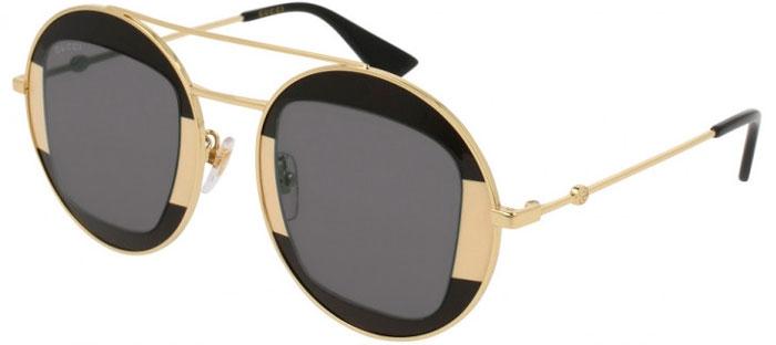 cf89fd42f Gafas de Sol - Gucci - GG0105S - 006 BLACK GOLD // GREY