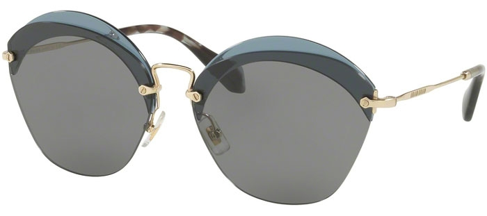 279efc4926 Gafas de Sol - Miu Miu - SMU 53SS - VX09K1 TRANSPARENT BLUE // GREY