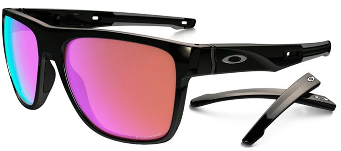 Sunglasses - Oakley - CROSSRANGE XL OO9360 - 9360-04 POLISHED BLACK    PRIZM 326f1ded098