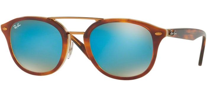 Brown De Honey Mirror 1128b7 Sol Gafas Ban® Havana Ray Rb2183 Top Blue n8wkN0OPX