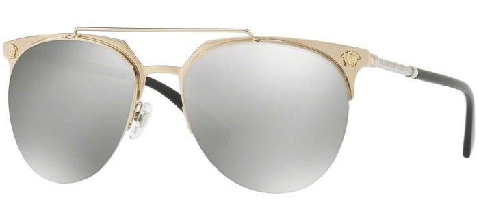 Gafas de Sol Versace VE2181 12526G PALE GOLD    LIGHT GREY MIRROR SILVER 0aa2355a6468