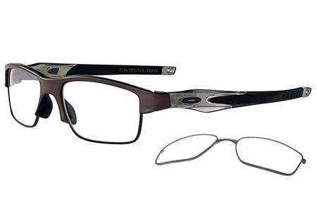 4d18f92f2a Lunettes de vue - Oakley Prescription Eyewear - OX3128 CROSSLINK SWITCH -  3128-02 PEWTER